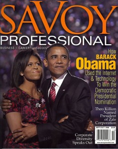 Sept/Oct Savoy Professional Cover Story on Barack Obama by Edward Cates