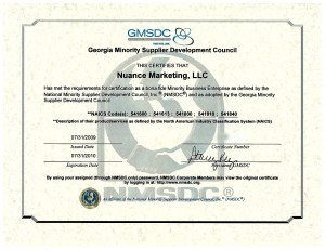 Nuance Marketing MBE Certification